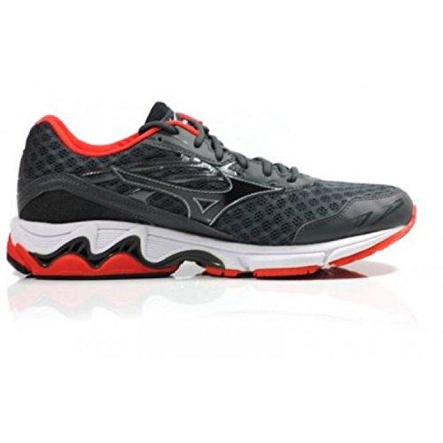 Inspire Gris Rouge Mizuno Pied Wave 12 Chaussure De Course à SS16 BTxOqH5Tw