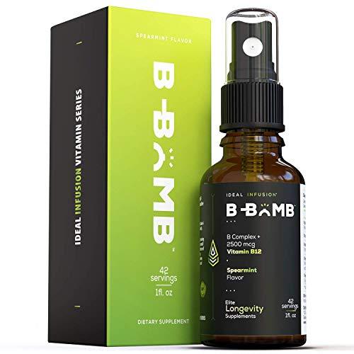 Bioactive Vitamin B12 Liquid Spray l Ultra Energizing Metabolism Support l Adenosyl and Methyl l Organic Spearmint and Stevia