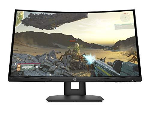 "HP X24c 9FM22AS - Monitor gaming curvado de 23.6"" FHD (16:9, 1920 x 1080 pixeles, 144 Hz, 4 ms, 1 x HDMI 2.0, 1 x DisplayPort 1.2) negro"
