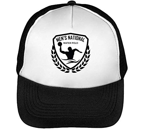 Man'S Blanco Beisbol Gorras Snapback Negro Badge Sport Water Hombre 1q77E4