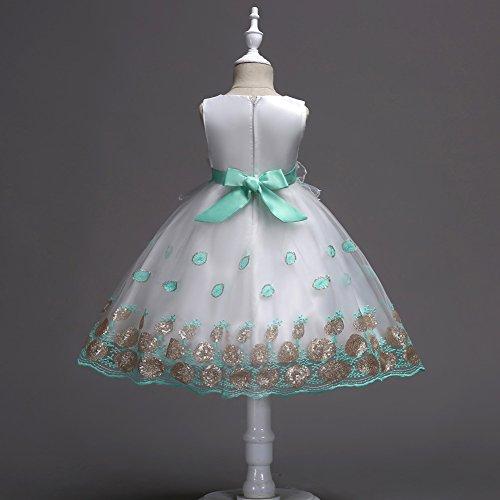 Party Christmas Flower Girls KISSOURBABY Dress Green Baby Bowknot Wedding Girl Princess Lace zU6w6xagq