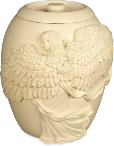 AngelStar Angel's Embrace Ivory Urn, 9-1/2-Inch, 185 Cubic Inch