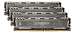Crucial Ballistix Sport LT 2666 MHz DDR4 DRAM Desktop Gaming Memory Kit 32GB (8GBx4) CL16 BLS4K8G4D26BFSB (Gray) (B06XHTPDHL) | Amazon price tracker / tracking, Amazon price history charts, Amazon price watches, Amazon price drop alerts
