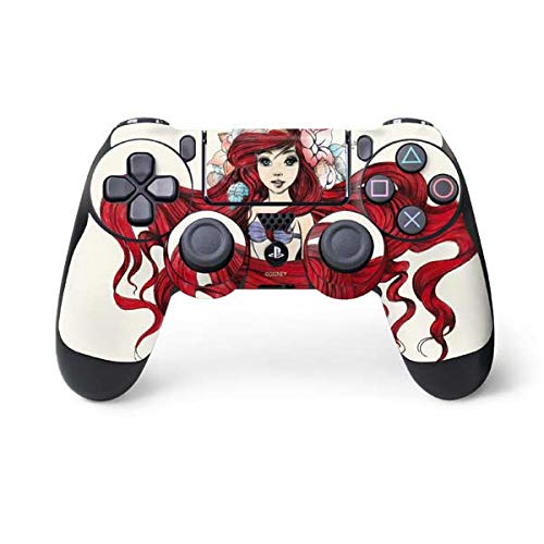 Skinit Ariel Illustration PS4 Controller Skin - Officially Licensed Disney Gaming Decal - Ultra Thin, Lightweight Vinyl Decal Protection (The Little Mermaid Playstation)