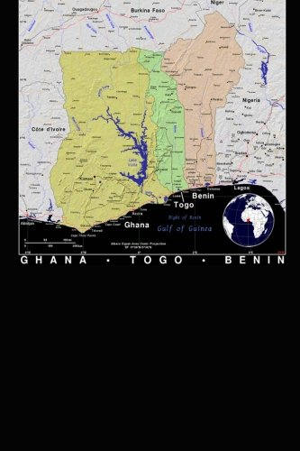 Modern Day Color Map of Ghana, Togo and Benin in Africa Journal: Take Notes, Write Down Memories in this 150 Page Lined Journal