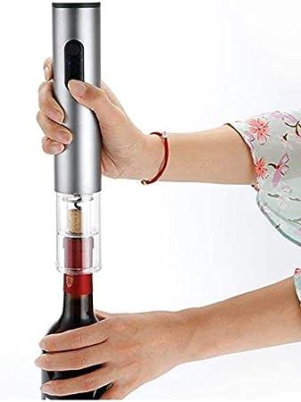 AILSAYA Abridor De Botellas De Vino Electrónico, Sacacorchos Automático Inalámbrico, Kit De Abridor De Botellas De Acero Inoxidable Recargable (Batería No Incluida) como Regalo Familiar