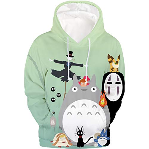 Hoodie 09 - DHSPKN My Neighbor Totoro Hoodie Anime 3D Printed Totoro Sweatshirt Cartoon Jacket