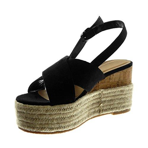Angkorly Damen Schuhe Sandalen Seil Mule Knöchelriemen Plateauschuhe Seil Sandalen ... ff787e