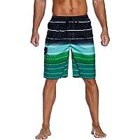 Nonwe Men's Beachwear Summer Holiday Swim Trunks Quick Dry Striped