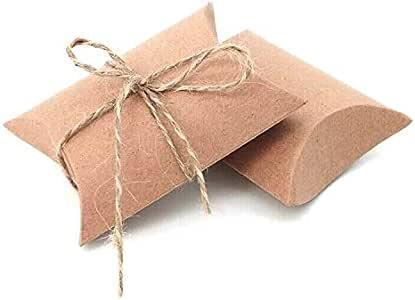 Cute Anti-Scratch Candy Boxes Pillow Gift Box Wedding Party Favor Kraft Paper vi
