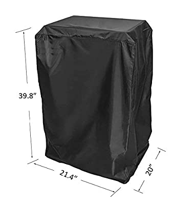 BBQ funland 40- Inch Cover for Masterbuilt Electric Smoker and others, Black by BBQ funland
