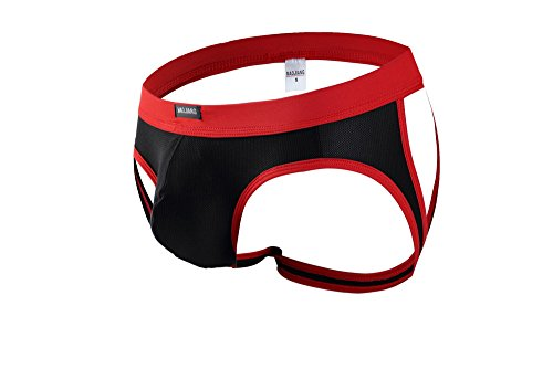 ONEFIT Sexy Men's Stretch Underwear Jock Strap Open Butt Thong Smooth Panties (Elastic Stretch Edging)