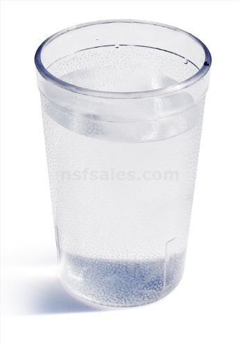 New Star Foodservice 46311 Tumbler Beverage Cup, Stackable Cups, Break-Resistant Commercial Plastic, 12 oz, Clear, Set of 72