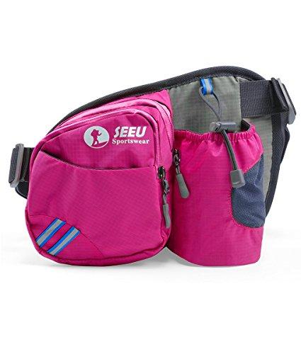 Best Deal! Sports Fanny Pack, Lightweight Waist Bag Hip Bag with Water Bottle Holder