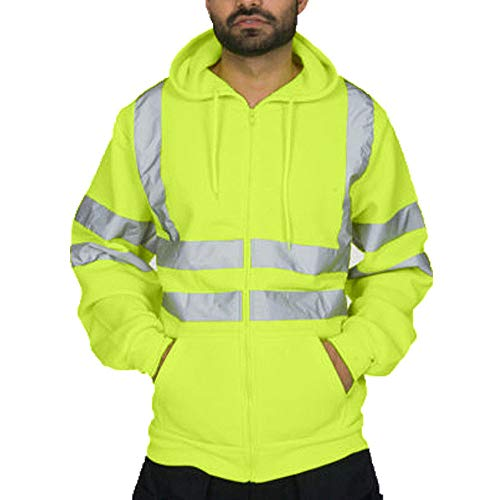 Hoodies for Mens, WOCACHI Mens Road Work High