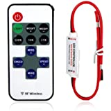 Lerway Mini LED Controller Dimmer with RF Wireless Remote Control DC 5~24V 12A R106