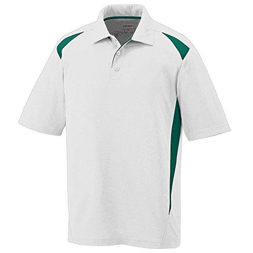 Augusta Sportswear Augusta Premier Polo, White/Dark Green, Medium