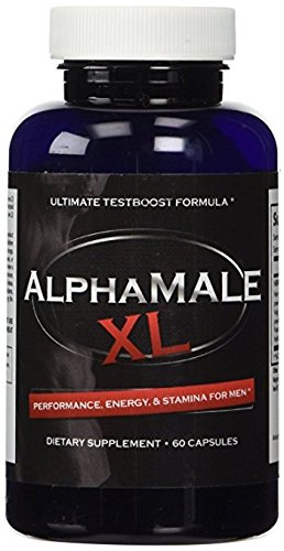 AlphaMale XL - The #1 Most Potent & Powerful Male Supplement Pills Available! All Natural & Clinically Proven Ingredients Testosterone Booster 1 Bottle Supply.