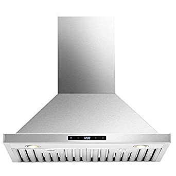 Kitchen 30 Wall Mounted Stainless Steel Range Hood with LED Touch Controls