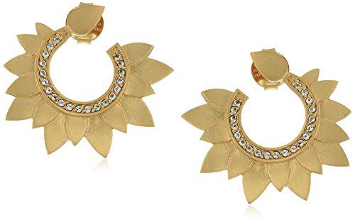 Satya Jewelry Gold/White Topaz Lotus Petal Swirl - Petals Swirl
