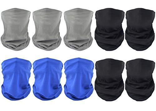 Sunland Seamless Tube Skull Face Mask Bandana Magic Scarf Headband Neck Gaiter Pack of 10
