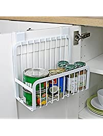 Mkono Over The Cabinet Door Organizer Kitchen Basket Holder White