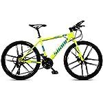 41J1pZlP6SL. SS150 JXH Mountain Bike Bicicletta Pieghevole, 21-velocità Doppio Freno a Disco Sospensione Totale Anti-Slip, variabili off…