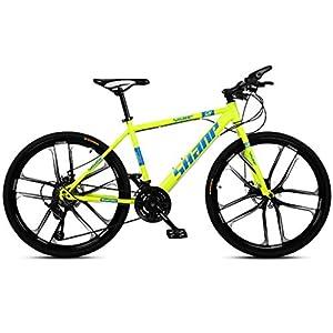 41J1pZlP6SL. SS300 JXH 26 Bici Pollici di Montagna, Doppio Freno a Disco per Mountain Bike Hardtail Uomo, Bicicletta Sedile Regolabile, ad…