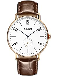 abart FN41-001-17L Sapphire Crystal Window Bauhaus Style Mens Watches