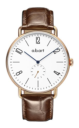 abart Watches FN41-001-17L Sapphire Crystal Watches Bauhaus Style Brown Watches for Mens