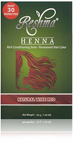 Reshma Beauty Natural Wine Red 30 Minute Henna Hair Color