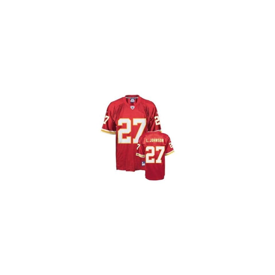 Larry Johnson #27 Kansas City Chiefs NFL Replica Player Jersey By Reebok (Team Color)