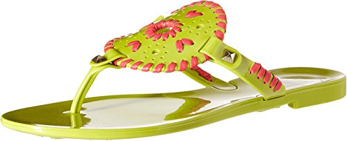 - Jack Rogers Women's Georgica Jelly Flip Flop, Lime/Bright Pink, 10 M US