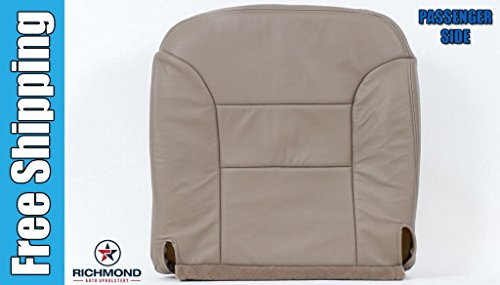 1995 1996 1997 1998 1999 GMC Sierra 2500 Crew-Cab Long-Bed Short-Bed SLT SLE -Passenger Side Bottom Replacement Leather Seat Cover, Tan (Bed Cab Short 4wd Quad)