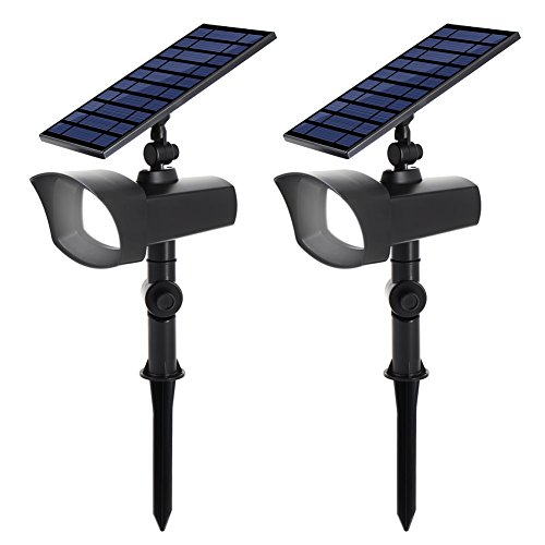 Innogear Solar Lights Spotlight Warm White Light Outdoor: InnoGear Upgraded Solar Lights With White And Rotating