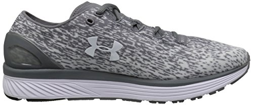 Under Armour Mens Laddade Bandit 3 Ombre Zink Grå / Vit / Vit