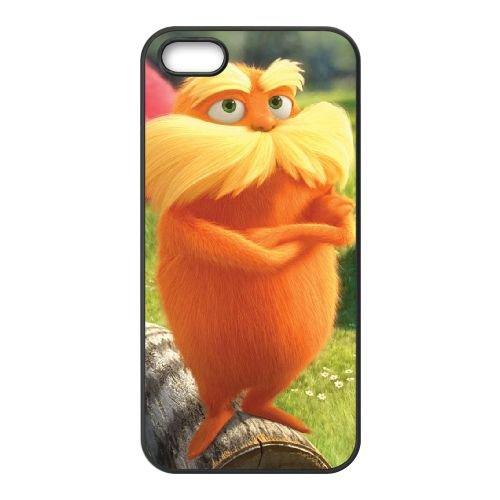 Q3W62 Dr Seuss The Lorax X2X7WR coque iPhone 4 4s cellulaire cas de téléphone de couverture de coque noire WY8LSU8LX