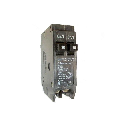 Eaton Cutler-Hammer BD2015 Type BR Duplex Twin 2 Pole 20A /15A Circuit Breaker Rejection Type ()