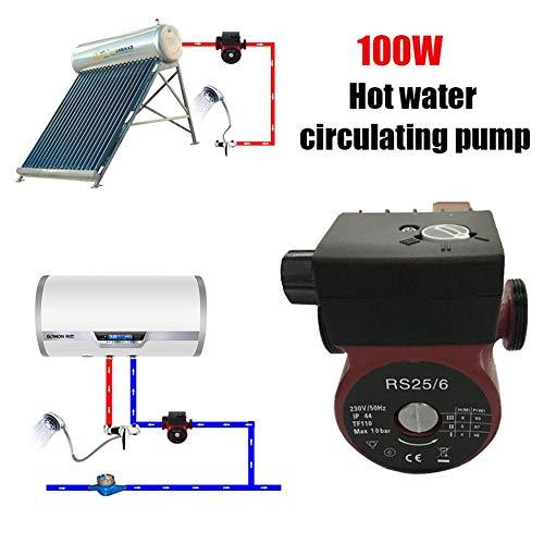 Rosso nero JICHUI Professionale 100W 230V Riscaldamento circolazione circolatore pompa Red /& Black con il manuale e automatico Interruttore