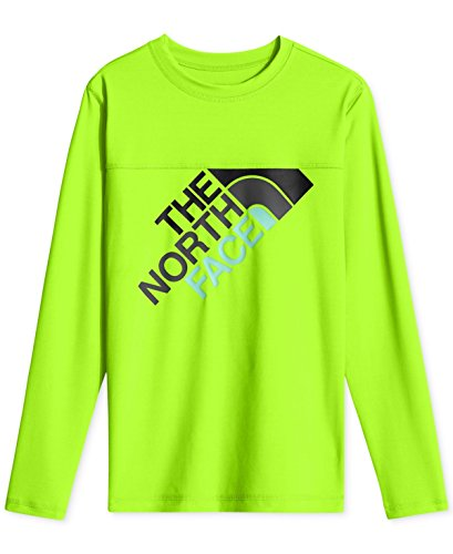 North Face Boys' Long-Sleeve Hike/Water Tee Power Green M