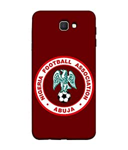ColorKing Football Nigeria 04 Red shell case cover for Samsung On7 Prime