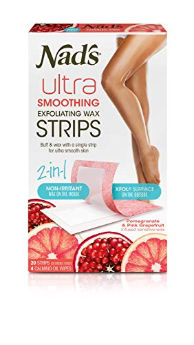 NAD'S Ultra Smoothing Exfoliating Wax Strips, 20 Count