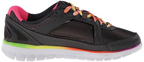 Fila hora más fina de neopreno zapatillas de running Dark Shade/Black/Knockout Pink