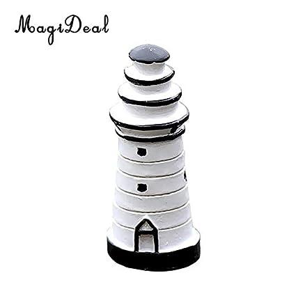 Amazon.com: Ochoos 5 Piece Lighthouse Miniature Fairy Garden ... on clay pot lighthouse, diy flower pot lighthouse, plant container lighthouse, cat pot lighthouse,