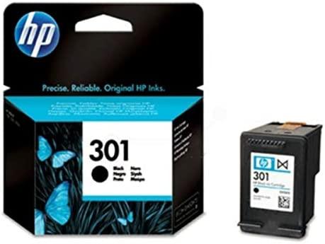 HP 301 Black Ink Cartridge - Cartucho de tinta para impresoras (Negro, 20-80%, -40-60 °C, Negro, 15-32 °C, 20-80%)