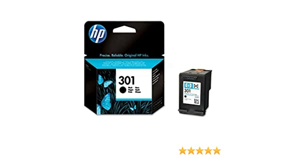 HP 301 Black Ink Cartridge - Cartucho de tinta para impresoras (Negro, 20-80%, -40-60 °C, Negro, 15-32 °C, 20-80%)