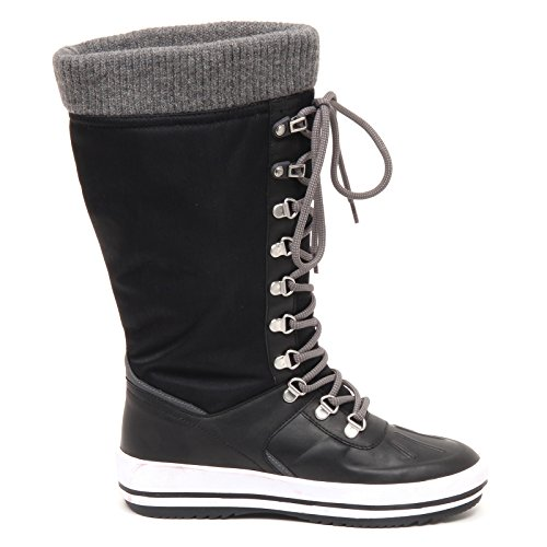 Vancouver Box Nero Snow Woman Boot without Black Tissue Stivale Donna D8510 Cougar HBqF11