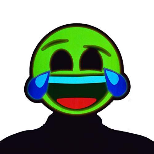 GlowCity Light-Up Emoji Mask - Brighter Than LED, Flash Modes (Laughing