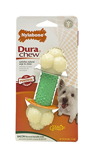 Nylabone Dura Chew Regular Bacon Flavored Double Action Bone Dog Chew Toy