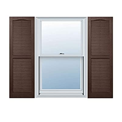 Alpha VNB1555BROL 14-Inch by 55-Inch Open Louver, Brown, 2-Pack